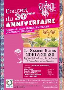 2010 Affiche concert