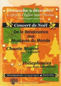 2012.12 Affiche concert Noël