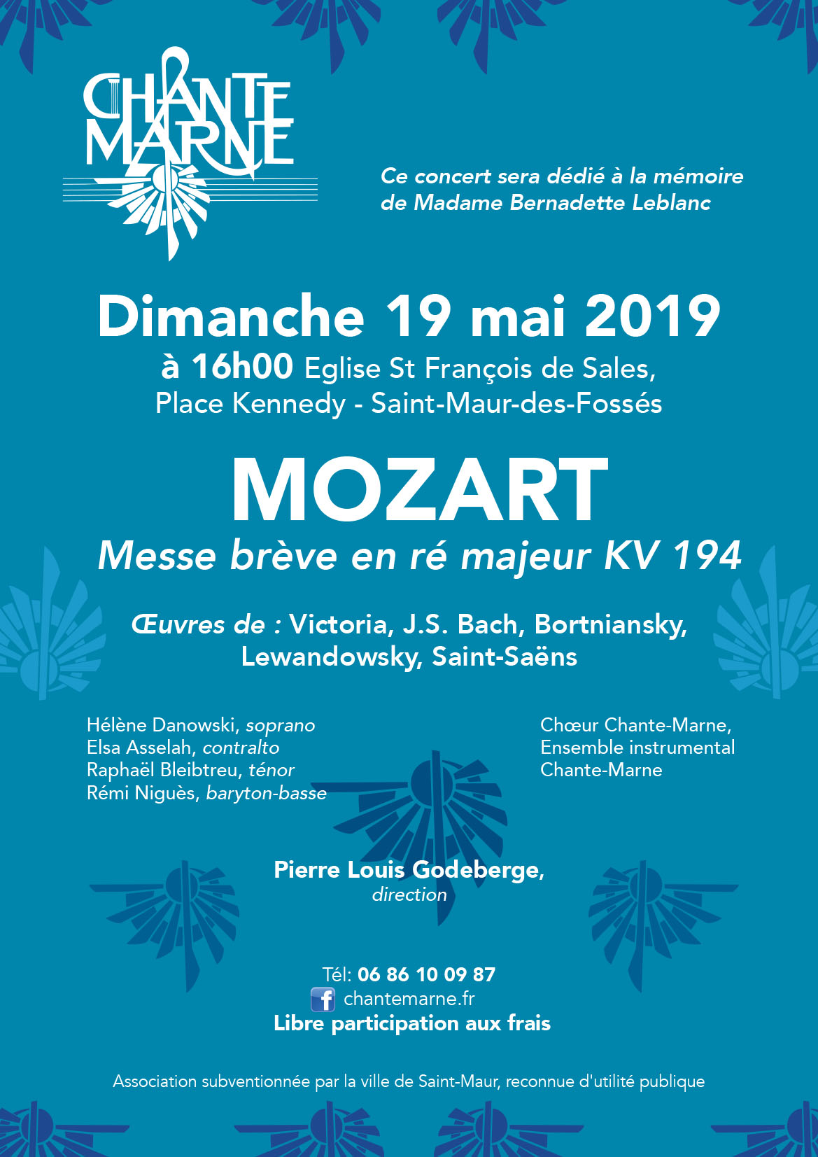 Affichette Concert 2019 Chante Marne